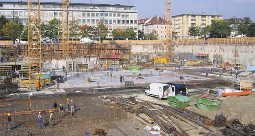 Baugrube in München